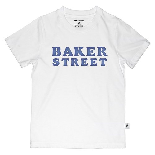 British Fashion Brand [Baker Street] Denim Letters Printed T-shirt for Kids