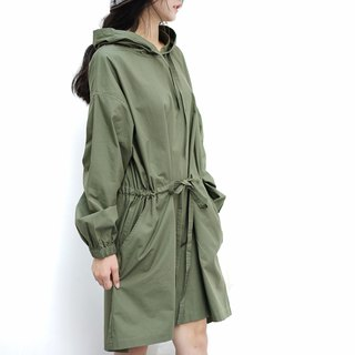 Ee18/ Army Green Sweater Dress