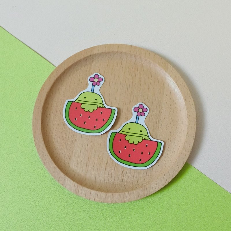 Watermelon eat watermelon / small stickers