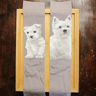 JHJ Design Canadian brand of high saturation knitting socks dog series West Highland Terrier (Male) puppy dog ​​cute