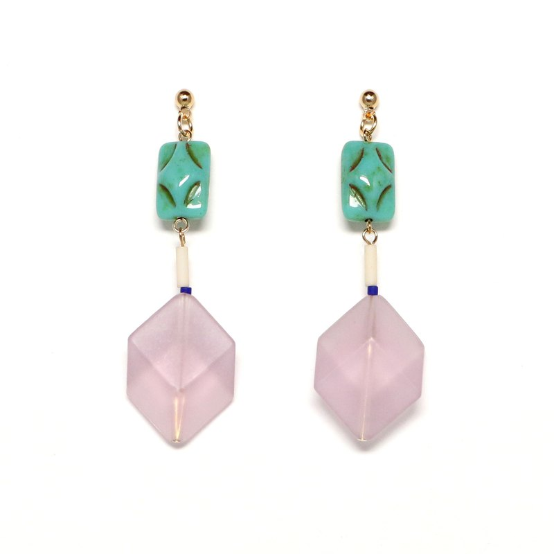violet jelly bead earrings · earrings