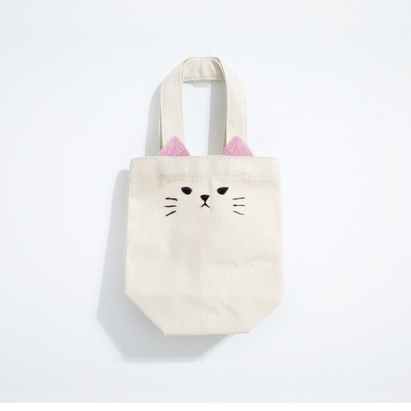 [Q-cute] beverage bag series - pink cat
