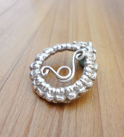 Knitting Series - Round - Silver Necklace