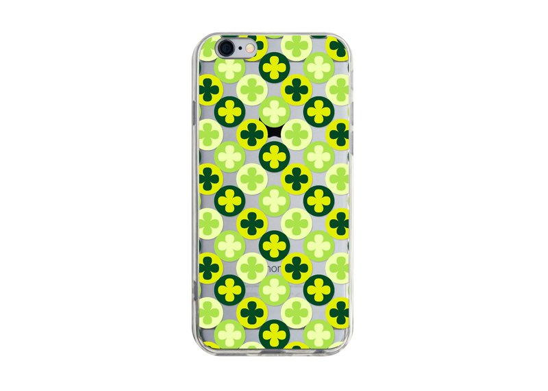 Green Flower iPhone X 8 7 6s Plus 5s Samsung note S9 Mobile Shell