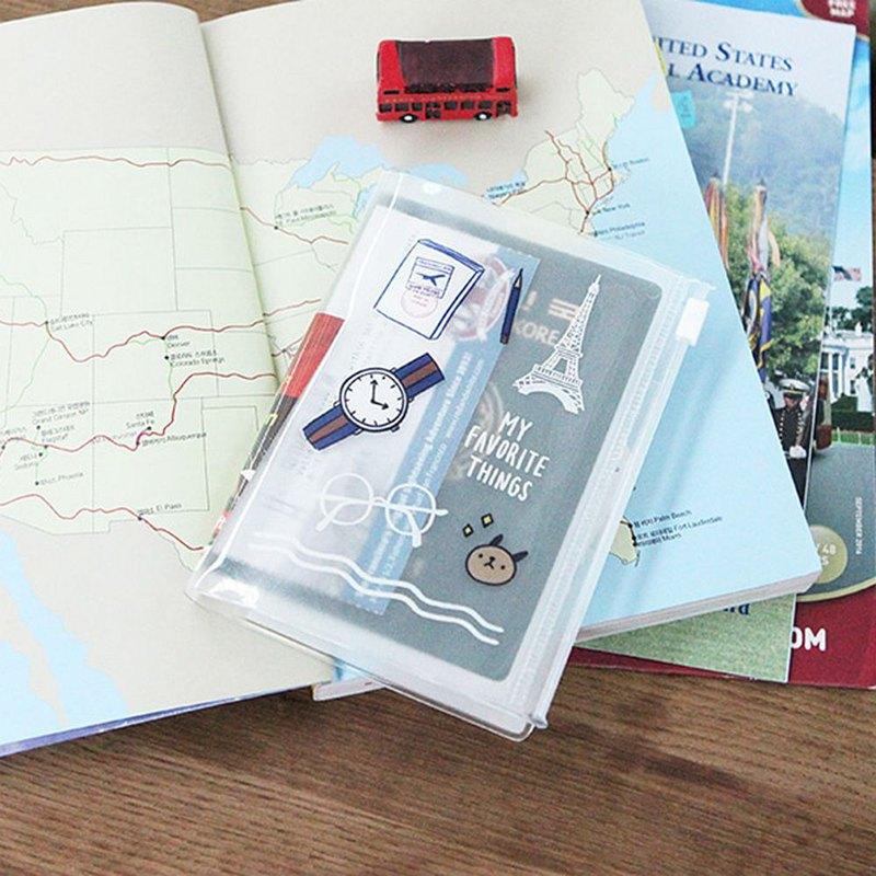 哈囉 珍妮 透明護照夾 04 旅行