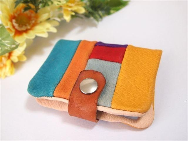 [Pig leather soft card case] by color leather 1532006