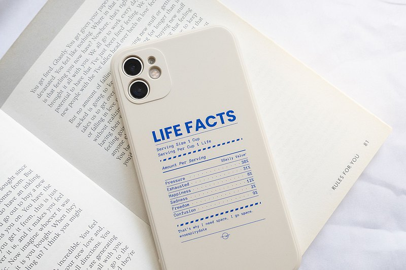LIFE FACTS IPHONE CASE