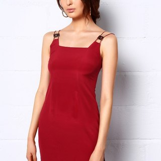 Carnelion Rectangle Silk Dress