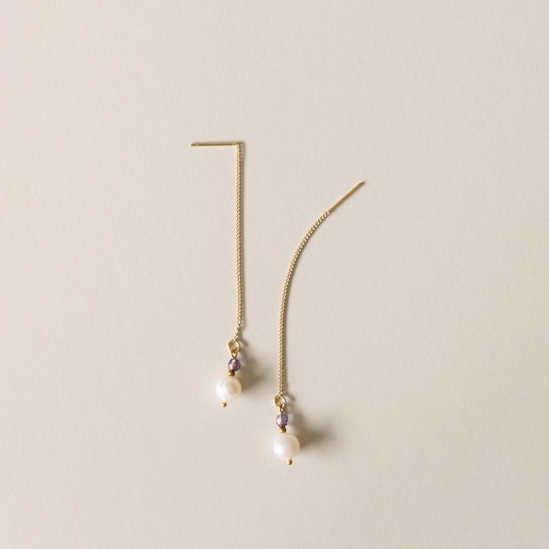 Febbi Single 18K Pearl Earrings
