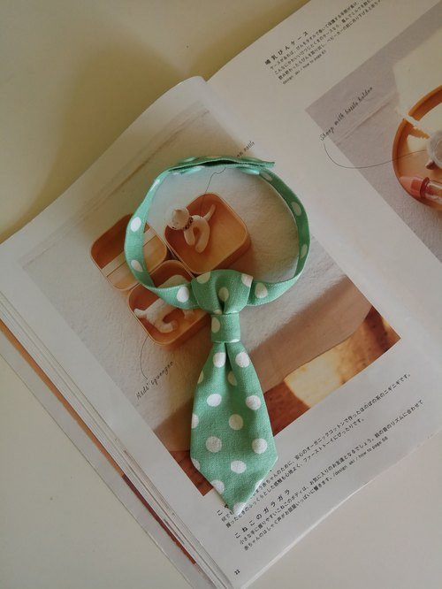 <Christmas gift> green dot big wave point baby tie baby bow tie 1 into tie tie