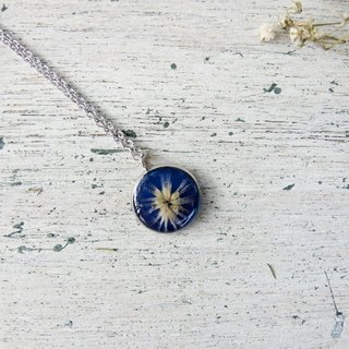 Real flower necklace - miscanthus Star