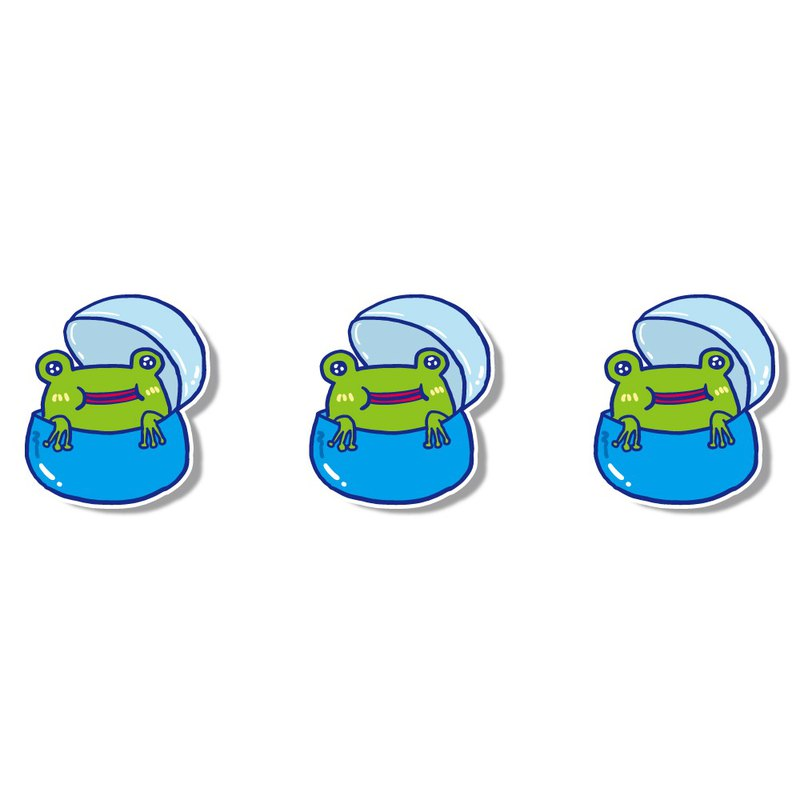 1212 Fun Design Funny Waterproof Sticker - Egg Series - Frog Egg