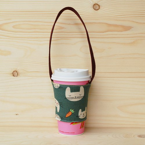 Bunny carrot drink bag_green/cup set