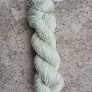 Hand dyed lace thread. Mint (55 BFL/45 Silk)