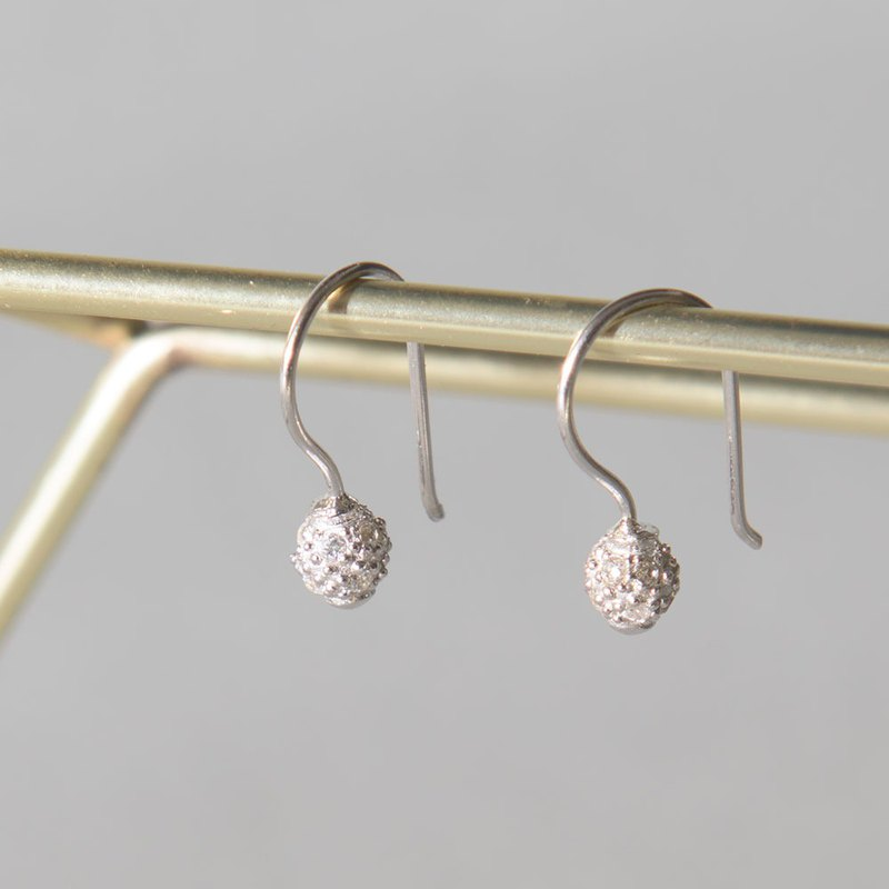 French luxury silver earrings