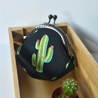 Cactus mouth gold coin wallet birthday exchange gift