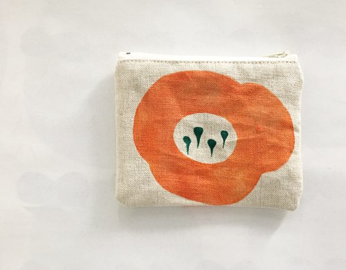 moshimoshi | linen small bag - pumpkin flowers