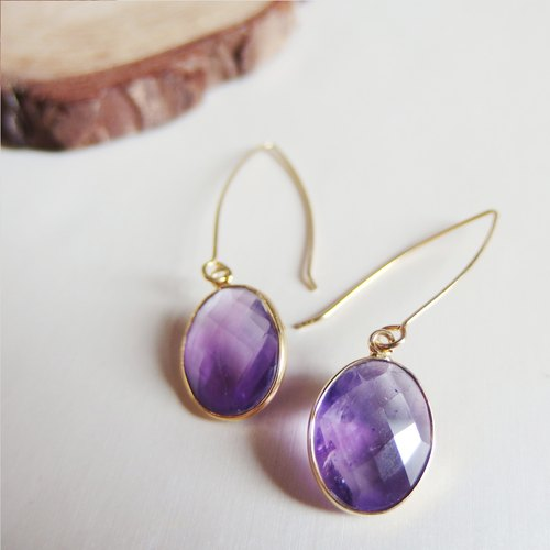 Pantone of 2018 Dangle Amethyst Earrings