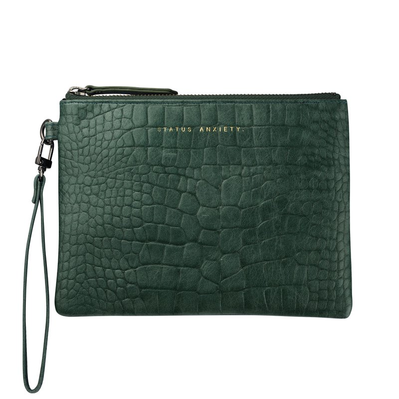 FIXATION Flat Clip _Teal Croc Emboss / Green Crocodile Embossed