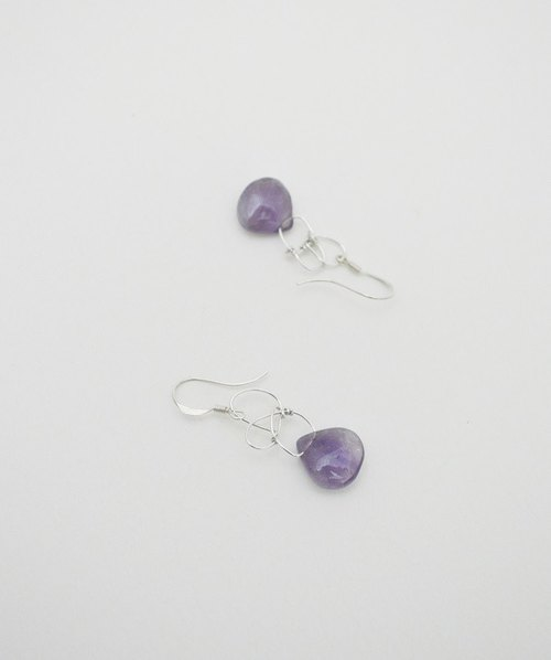 Not a mess‧Amethyst‧Silver Earring