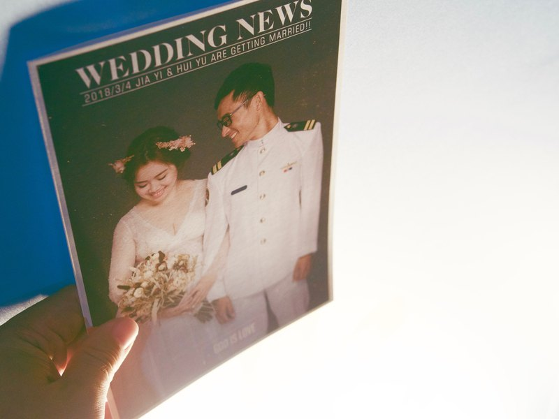 Wedding program design (with printing) - Folding