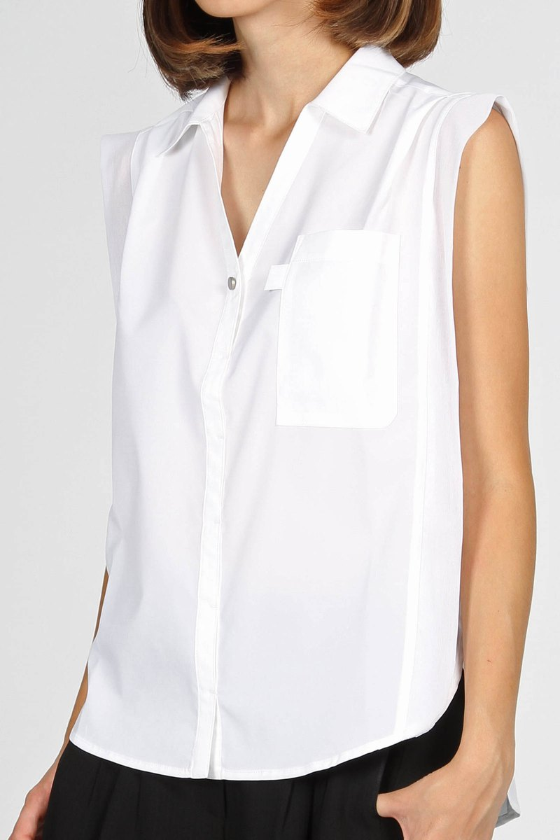 Knotted Yarn Drop Shoulder Shirt - White