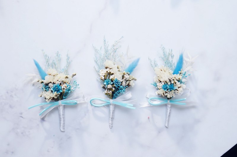Amor Floral - dream blue dry corsage / wedding small gift room gift secondary approach bridal Valentine's Day bouquet sent guest photo props dry flowers birthday gift