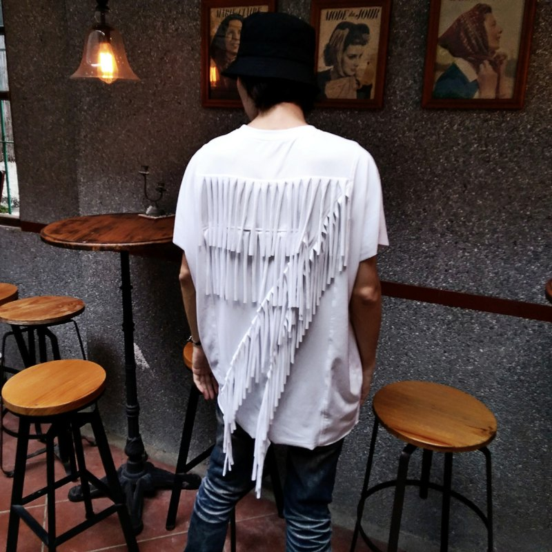 Hand-cut tassel super elastic loose top (male) Ray77 Galaxy