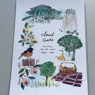 [Cloud Gate Dance Theatre Cultural & Creative Items] beautiful time postcard (winter) (ZCA01008)