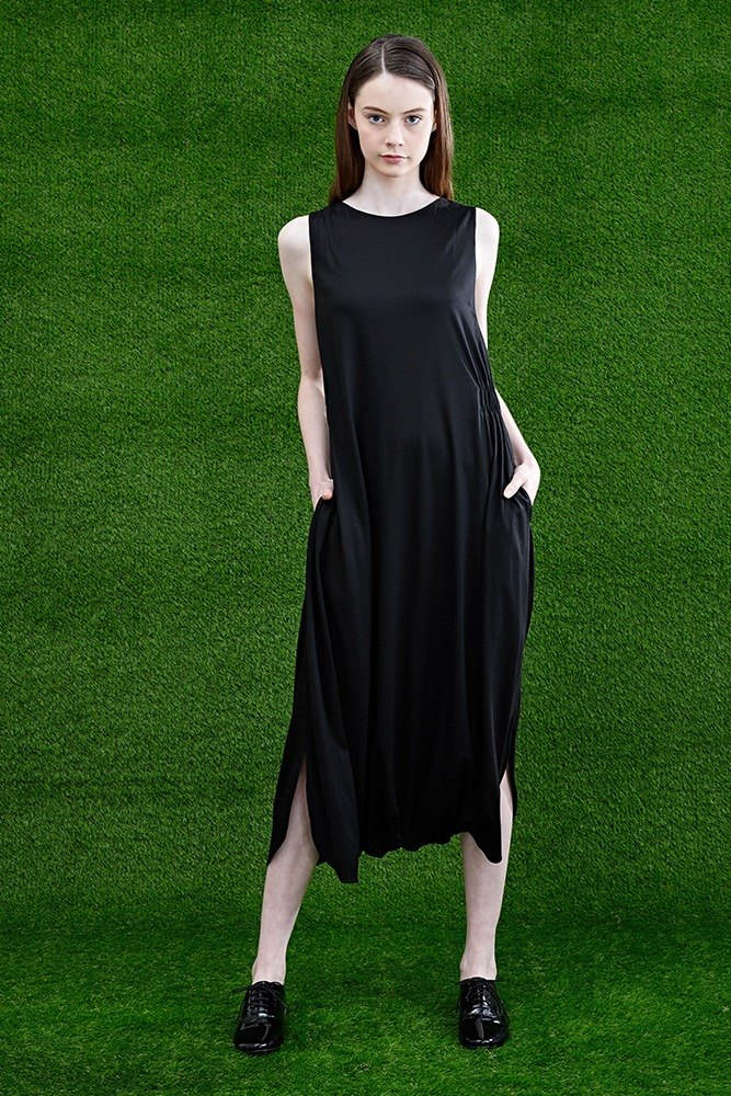 Clearance-Black Dress Jumpsuit