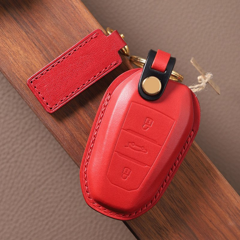 [Mad Craftsman] Full Handmade For Peugeot Car Key Holster Logo / DS Key Case