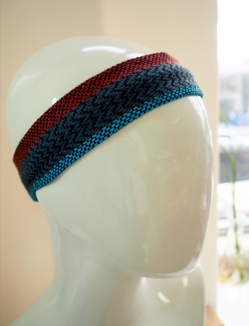Woven and colored headband