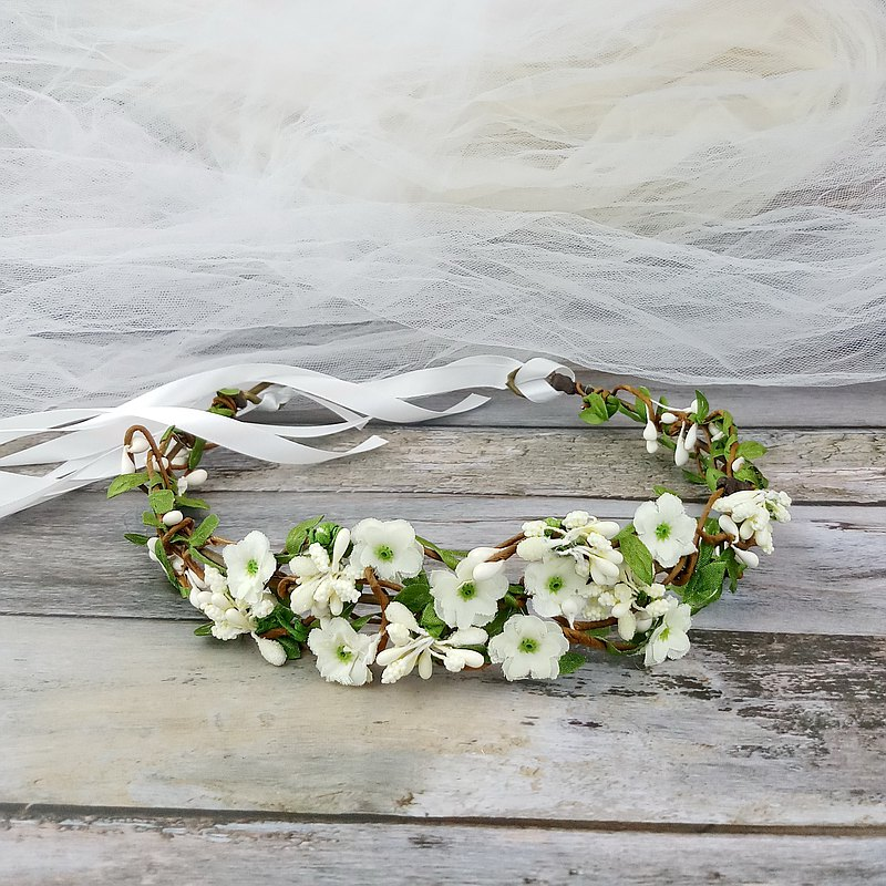 Flower crown, Rustic wedding crown, pink rose wreath, hair accessories C19