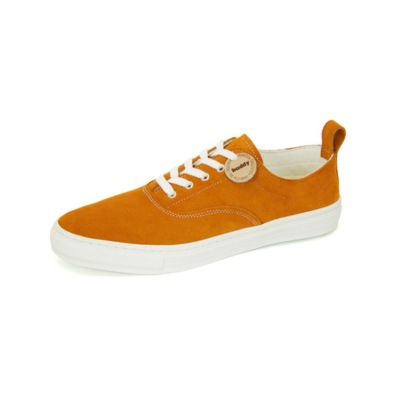 Dachshund Low Orange / orange leather sneakers