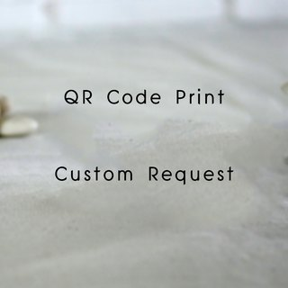 Line Facebook QR Code Optional Print Order for Another Items in Meesti Studio