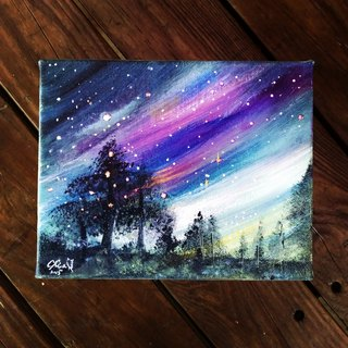 Wishing Star Acrylic paintings composite mediums