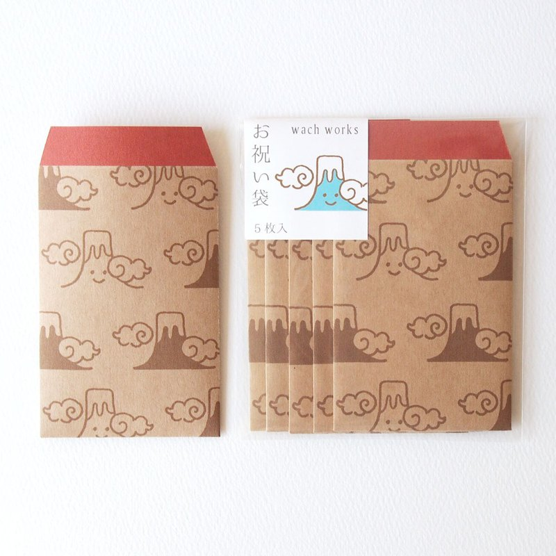 Japanese Gift-Money Petit Envelopes of kraft paper - Mt.Fuji -