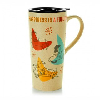 Snoopy Travel Mug - Happy Cars [Hallmark-Peanuts Snoopy Mug]