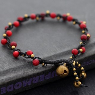 Red Coral Woven Bracelets Cute Petite Beaded Bracelets