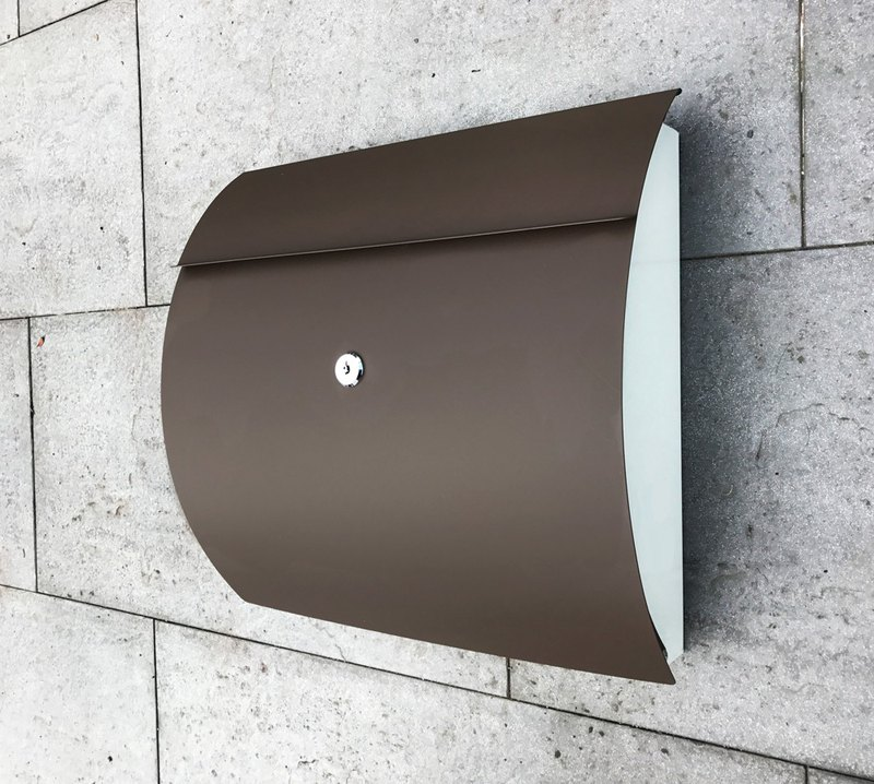 Stainless steel curved letter box is durable and exquisite combined with anti-rust and fearless wind and rain