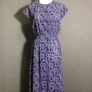 Ping-pong vintage [vintage dress / violet totem short-sleeve vintage chiffon long dress] abroad back VINTAGE