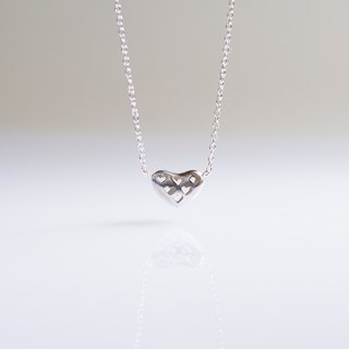 Missing Seven Hearts Stereo Hollow Love Clavicle Chain Hand Made 925 Sterling Silver Necklaces