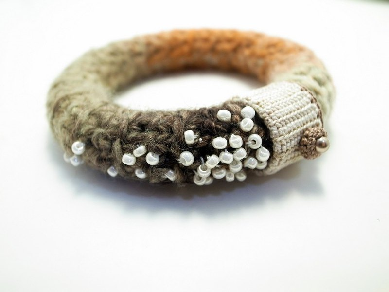 Crochet Jewelry (Stars 2-a) Crochet Bangle Beaded Bangle