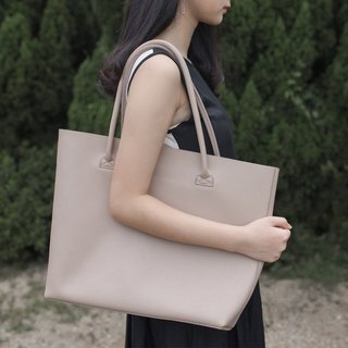 Large | hazelnut brown grocery shopping bag original handmade first layer cowhide large tote bag commuter shopping bag
