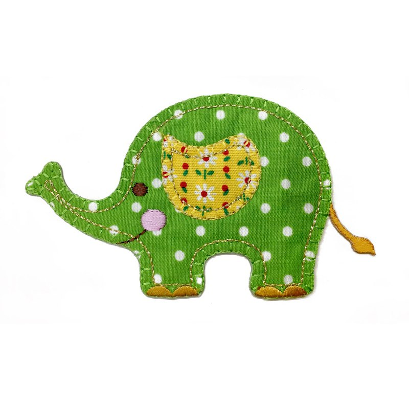 Three-dimensional embroidery cloth sticker - smiling elephant
