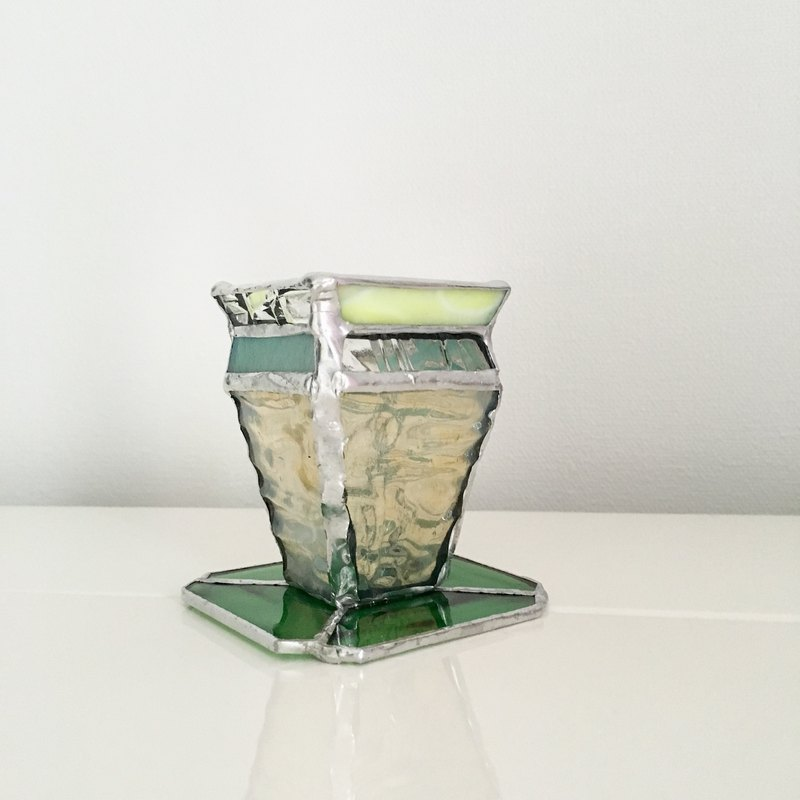 Holder Stand Daydream Chic Green Glass Bay View