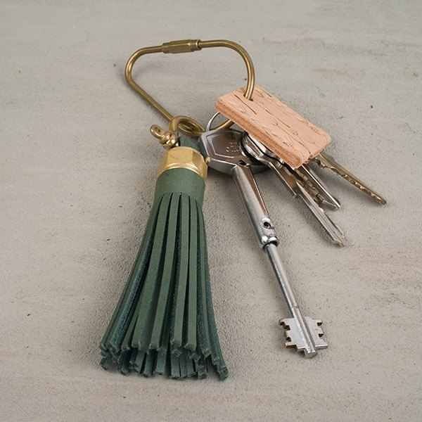 Leather tassel hanging tassel key ring short version ACCESSORIES series