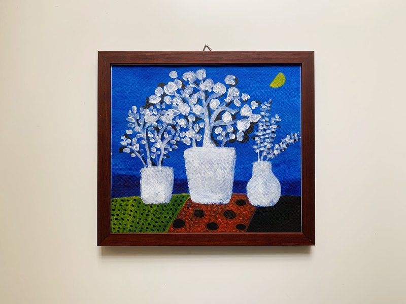 Original painting acrylic painting | one 隅 (including wooden frame)