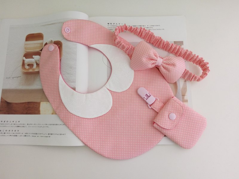 Foundation Shui Yu Mi Yue gift one year old birthday gift collar piece bib safe charm bag headband
