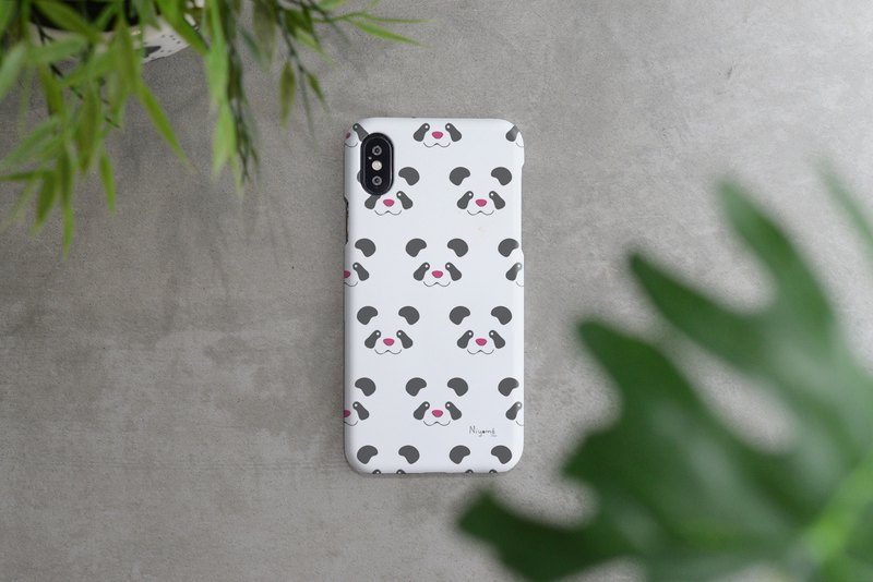 iphone case panda face pattern for iphone 6, 7, 8, iphone xs , iphone xs max